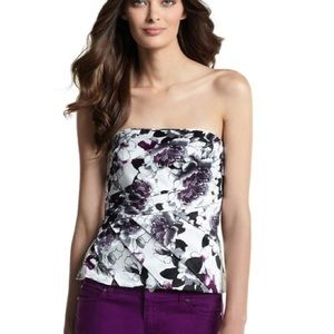 WHBM FLORAL BUSTIER, Size 4